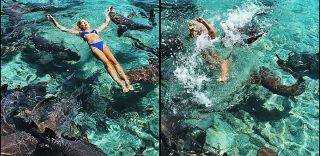 Bahamas, in posa per lo scatto perfetto: l'influencer morsa da uno squalo