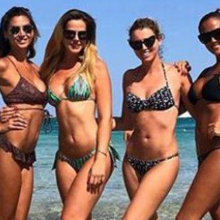 Giorgia, Thais, Melissa ed Elena insieme a Porto Cervo