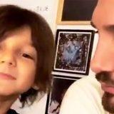 Stefano De Martino, lezioni di napoletano al figlio Santiago. La prova è superata?