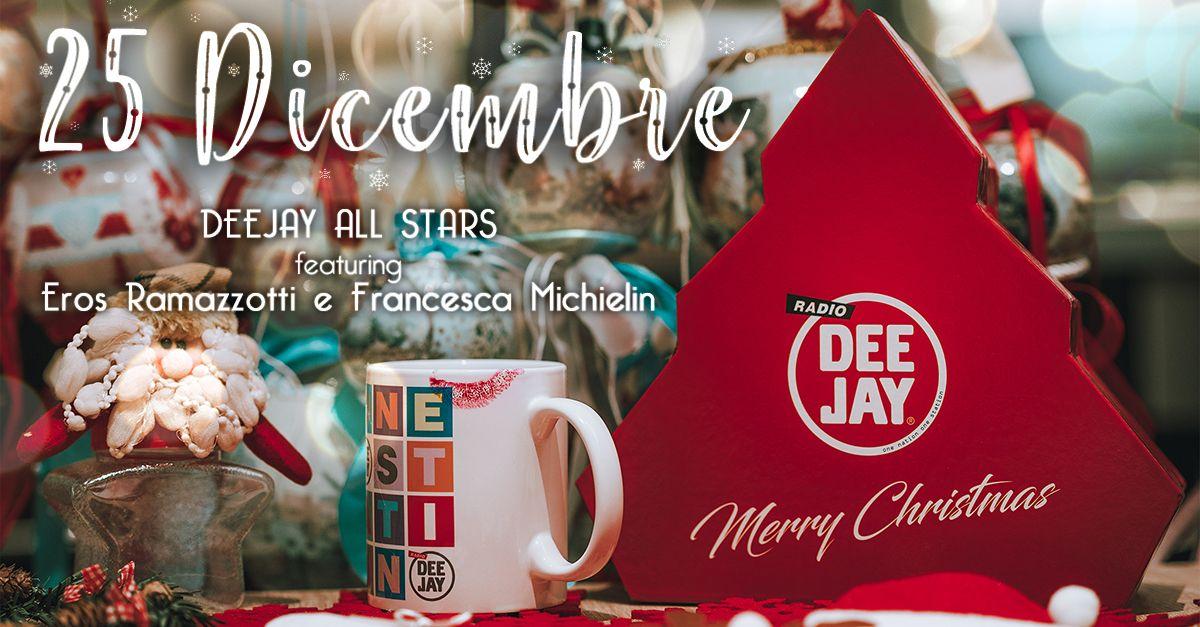 """""""25 dicembre"""", la canzone di Natale di Radio Deejay con Eros Ramazzotti e Francesca Michielin"""