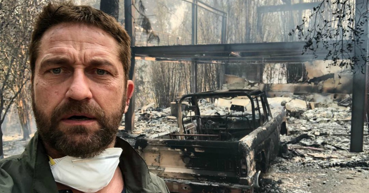 Incendi in California, distrutte le ville di Miley Cyrus e Gerard Butler