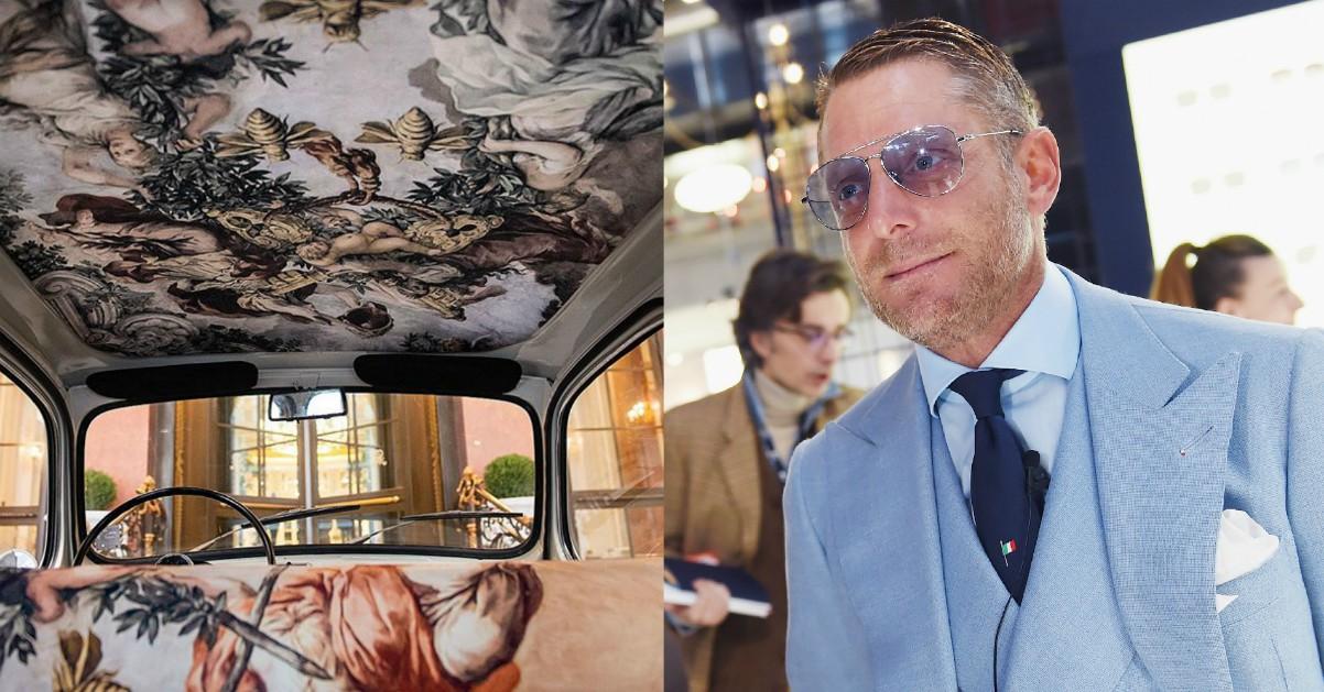 Lapo Elkann personalizza la Multipla vintage con un affresco di Pietro da Cortona del '600