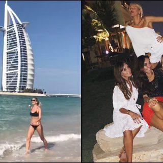 Alessia Marcuzzi, 46 anni sotto il sole di Dubai: la festa