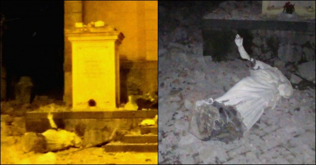 Catania: crolla statua Sant'Emidio, il protettore dai ...