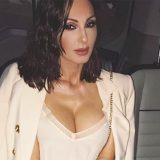 Anna Tatangelo super sexy alla festa di Elisabetta Franchi