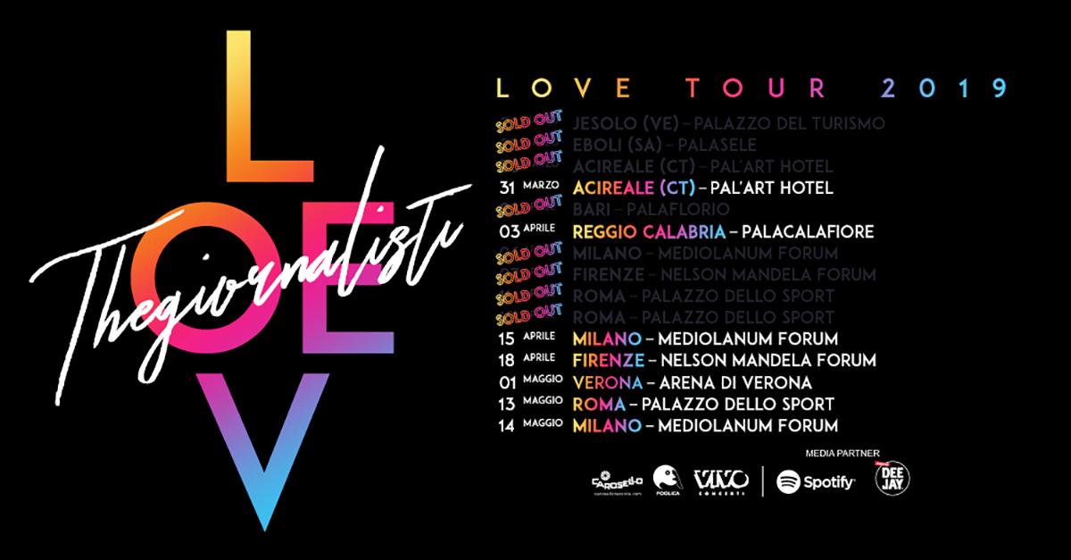 """Grande successo di """"Love Tour 2019"""". I Thegiornalisti continuano a collezionare sold out."""