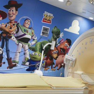 I personaggi di Toy Story nella nuova sala per risonanze