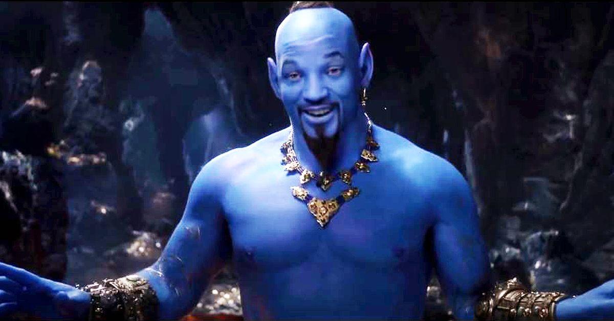 """""""Aladdin"""", il genio tutto blu del nuovo film Disney è Will Smith"""