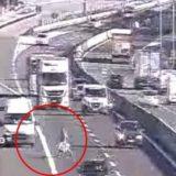 La follia sulla A11: fa retromarcia in autostrada e poi attraversa la carreggiata a piedi