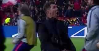 """Atletico Madrid-Juventus: l'esultanza volgare di Simeone e la risposta di Ronaldo con la """"manina"""""""