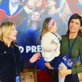 """Elisabetta Canalis alla premiere di """"Dumbo"""" a Los Angeles con la figlia Skyler"""