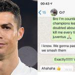 """Evra pubblica la chat WhatsApp con Ronaldo prima di Juventus-Atletico: """"Passeremo!"""""""