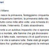 """Scuolabus in fiamme, la commovente lettera dei carabinieri ai colleghi eroi: """"Siete stati gli angeli della strada"""""""