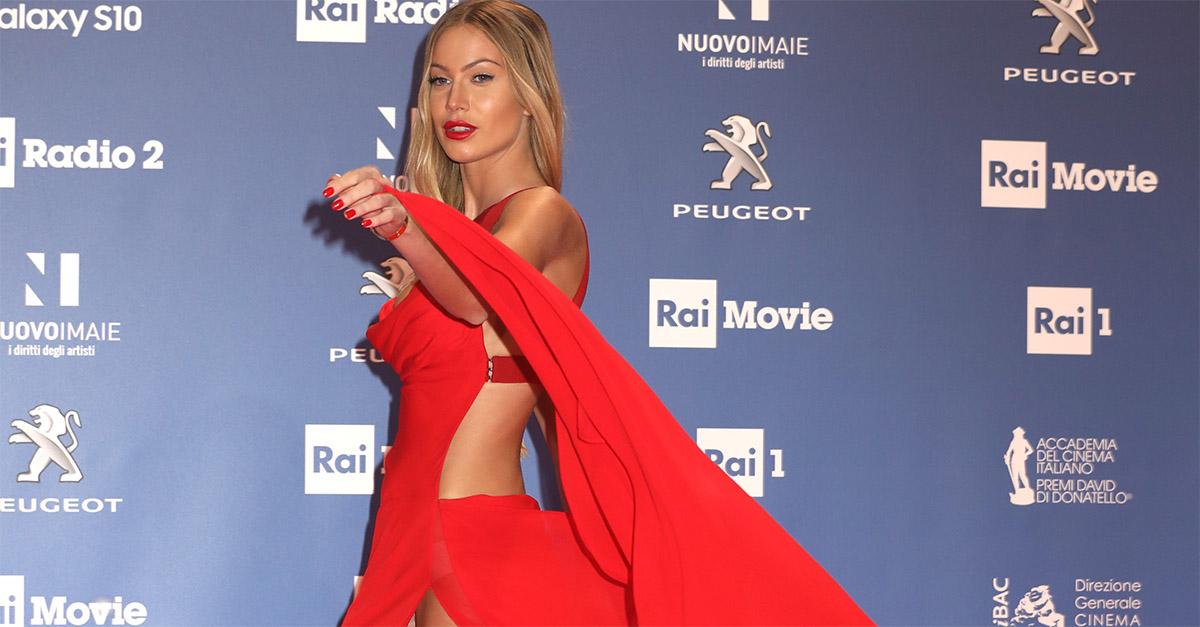 David di Donatello, il sexy red carpet di Taylor Mega
