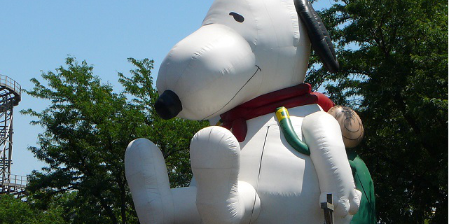 Snoopy pallpone gonfiato