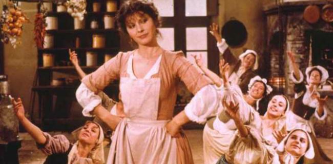 Claudia Mori interpreta La locandiera nel film del 1980
