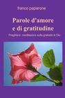 copertina di PAROLE D'AMORE E DI GRATITUDINE