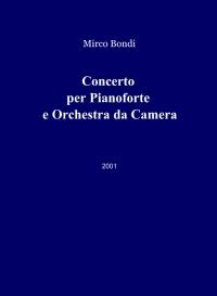 Concerto per Pianoforte e Orchestra da Camera