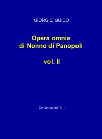 Opera omnia di Nonno di Panopoli vol. II