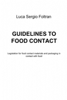 copertina GUIDELINES TO FOOD CONTACT...