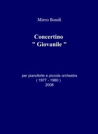 """Concertino """" Giovanile """""""