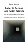 Letter to German and Italian Friends