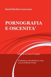 PORNOGRAFIA E OSCENITA'