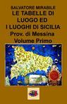 LE TABELLE DI LUOGO ED I LUOGHI DI SICILIA Provincia...