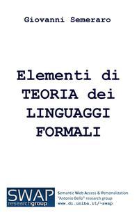Elementi di TEORIA dei LINGUAGGI FORMALI