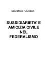 copertina SUSSIDIARIETA' E AMICIZIA C...