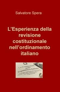 L'Esperienza della revisione costituzionale nell'ordinamento italiano
