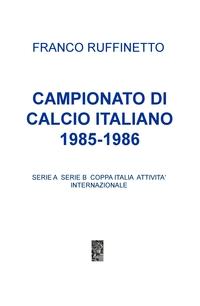 CAMPIONATO DI CALCIO ITALIANO 1985-1986