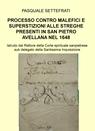 copertina PROCESSO CONTRO MALEFICI E...