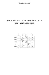 Note di calcolo combinatorio con applicazioni