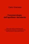 copertina Fenomenologia dell'apollineo d...