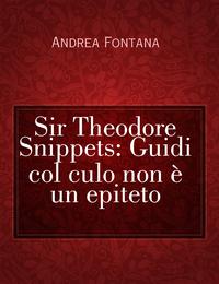 Sir Theodore Snippets: Guidi col culo non è un epiteto
