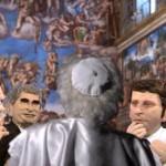 Il Papa (non solo di spalle) e i giudici di Masterchef le novità de Gli Sgommati