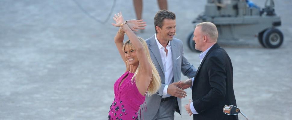 Michelle Hunziker in tv con il pancione a Wetten Das
