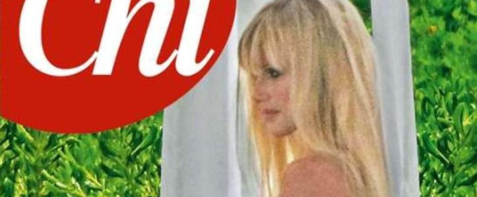 Hunziker come Demi Moore, in copertina con pancione