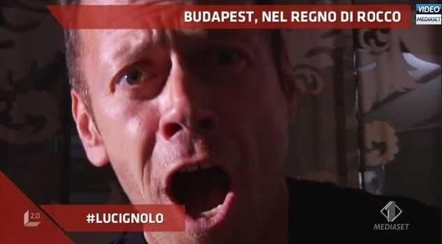 Rocco Siffredi, con Lucignolo 2.0 sul set dei suoi film porno