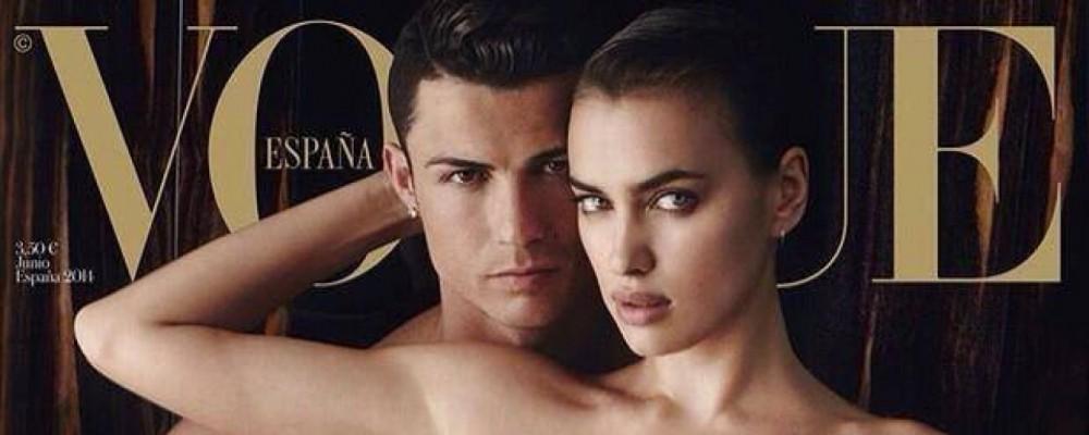 Vogue Spagna: copertina hot con Cristiano Ronaldo e Irina Shayk