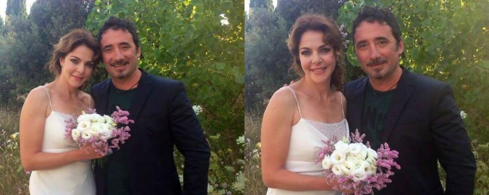 Claudia Gerini e Federico Zampaglione: matrimonio a sopresa, ma è uno scherzo