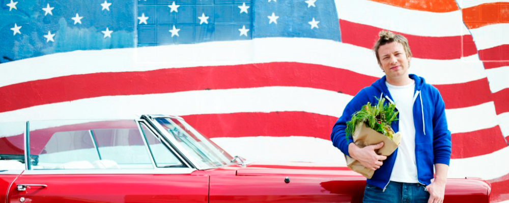 Jamie Oliver alla scoperta del gusto made in USA su laeffe