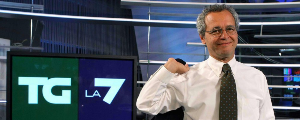 """Enrico Mentana al vetriolo: """"Su La7 si naviga a vista"""""""