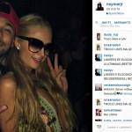 Neymar, vacanze a Ibiza e selfie con Paris Hilton
