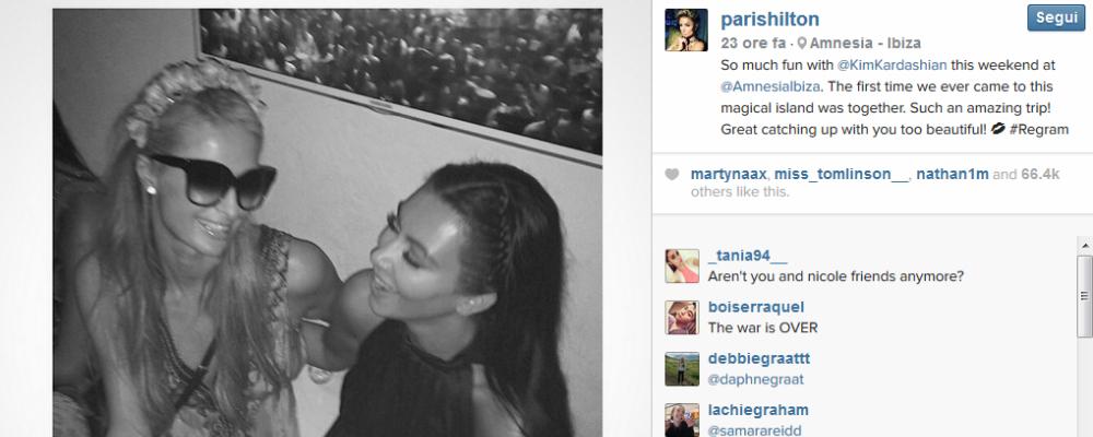 Paris Hilton, pace fatta con Kim Kardashian