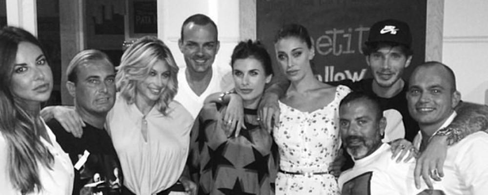 Prima delle nozze Elisabetta Canalis a Milano con le amiche Maddalena Corvaglia e Belen