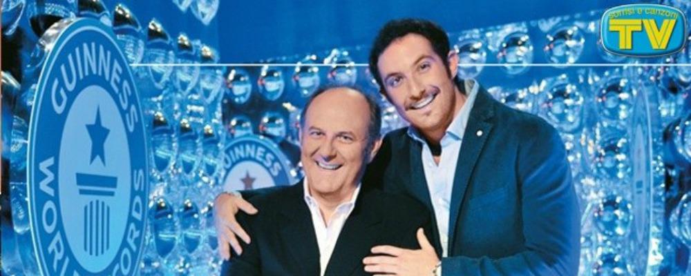 Tale padre tale figlio, Gerry Scotti con Edoardo per lo show dei record