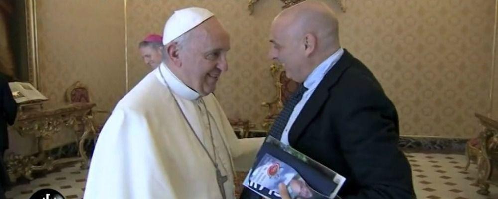 Paolo Brosio, dopo lo scherzo arriva il vero incontro con Papa Francesco