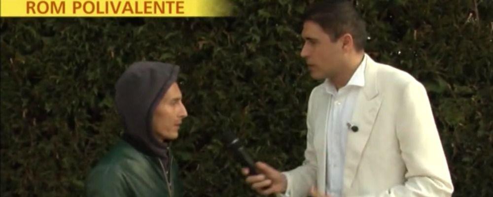 Striscia la notizia smaschera il finto rom di Quinta Colonna